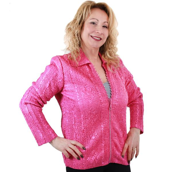 Wholesale Diamond Zipper Jackets Orchid Diamond Zipper Jacket	 - One Size Fits  (S-L)