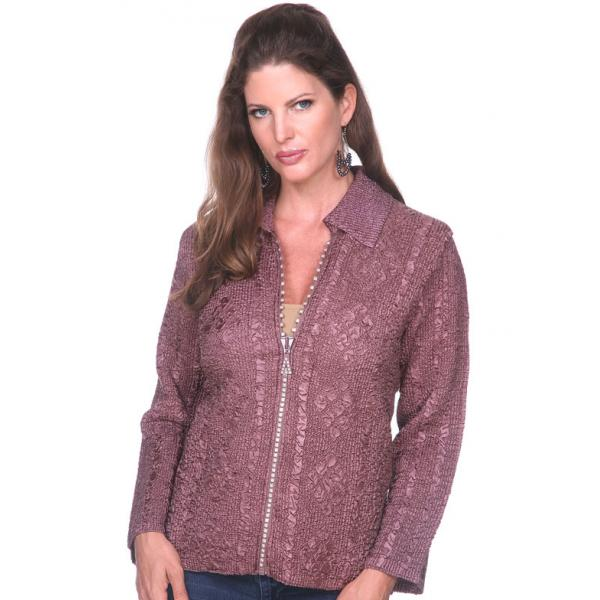 Wholesale Diamond Zipper Jackets Brown Diamond Zipper Jacket	 - One Size Fits  (S-L)