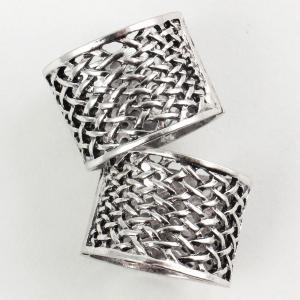 wholesale Scarf Rings and Buckles 01 Silver (2 Pack) -