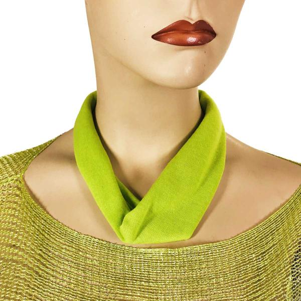 Wholesale Jersey Knit Necklace with Magnetic Clasp #007 Lime -