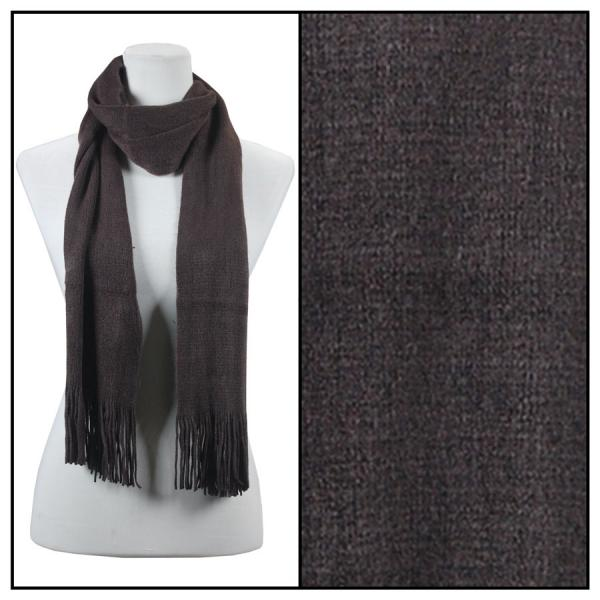 wholesale Oblong Scarves - Cashmere Feel 0940002 Dark Brown Oblong Scarf- Cashmere Feel 0940002 -