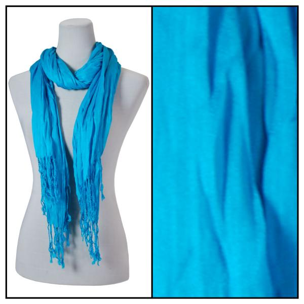 Oblong Scarves - Cotton/Silk Blend 100 Turquoise -