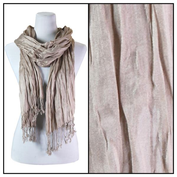 Oblong Scarves - Cotton/Silk Blend 100 Taupe -
