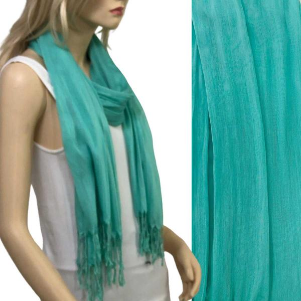 Wholesale Oblong Scarves - Cotton/Silk Blend 100 Biscay Green -