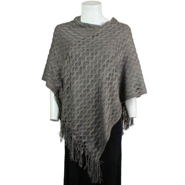 wholesale C Poncho - Wave Overlap Knit 4102* Khaki -