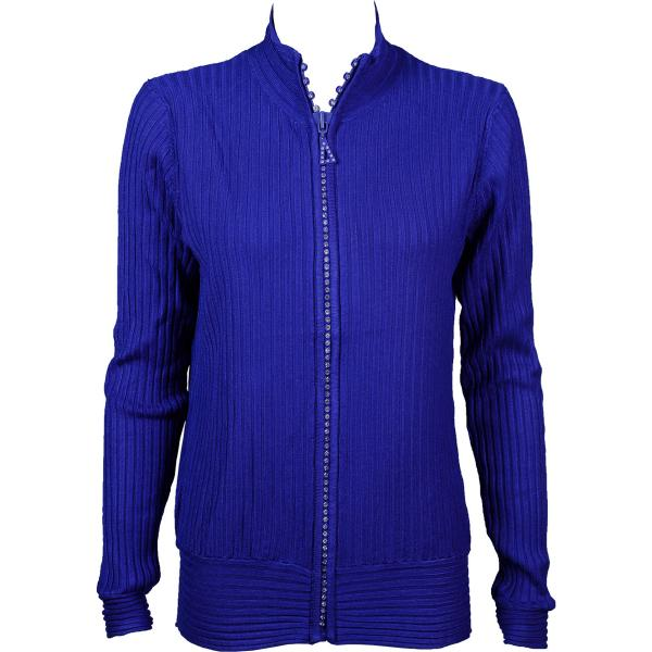 Wholesale Crystal Zipper Sweater* Royal Crystal Zipper Sweater - One Size (S-XL)