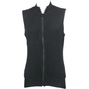 Wholesale  Black Crystal Zipper Sweater Vest - One Size (S-XL)