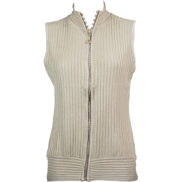 Wholesale Crystal Zipper Sweater Vest* Gold Crystal Zipper Sweater Vest - One Size (S-XL)
