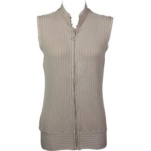 Wholesale  Champagne Crystal Zipper Sweater Vest - One Size (S-XL)