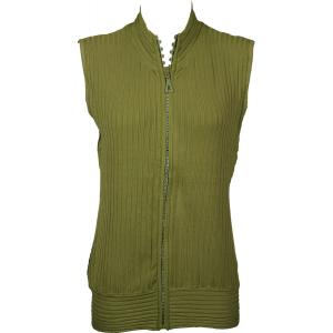 Wholesale  Green Crystal Zipper Sweater Vest - One Size (S-XL)