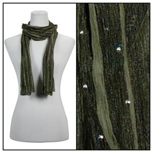 wholesale Oblong Scarves - Sequined 4118* Green -