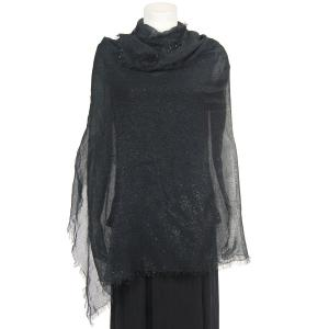 Shawls - Metallic Gauze 4111* Black -