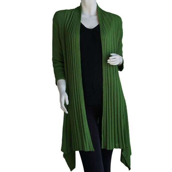 Wholesale Magic Convertible Long Ribbed Sweater Fresh Olive Green Magic Convertible Long Ribbed Sweater -