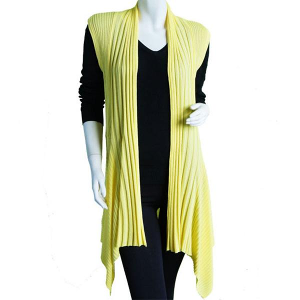 wholesale Magic Convertible Long Ribbed Sweater Vest Baby Yellow Long Ribbed Sweater Vest -