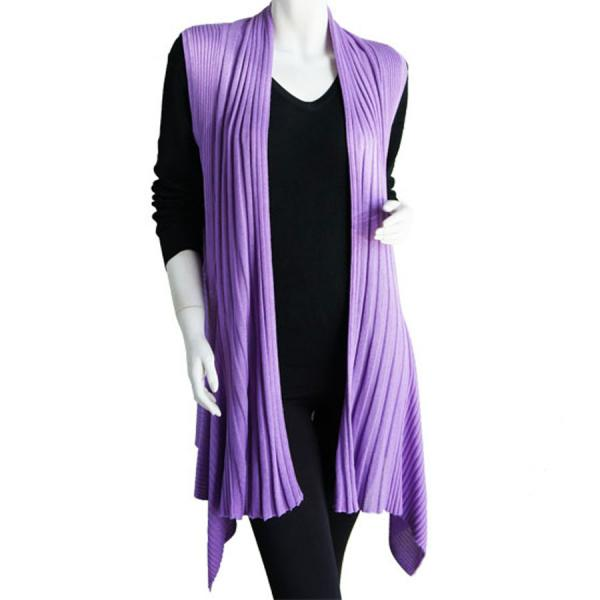 wholesale Magic Convertible Long Ribbed Sweater Vest Lavender Long Ribbed Sweater Vest -
