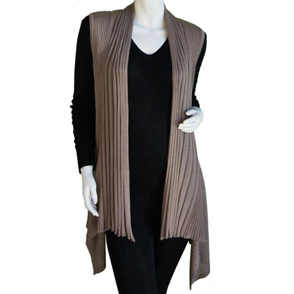 wholesale Magic Convertible Long Ribbed Sweater Vest Mocha Long Ribbed Sweater Vest -