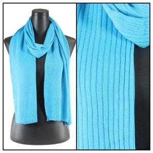 wholesale Oblong Scarves - Ribbed Sweater Knit Turquoise -