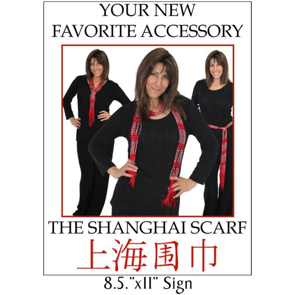 wholesale Shanghai Beaded Scarves/Sash   Shanghai Scarves Sign - FREE Limit 2 per Order -