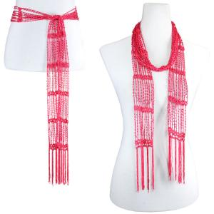 wholesale Shanghai Beaded Scarves/Sash   Pink w/ Pink Beads -