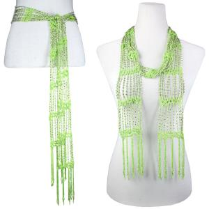 Wholesale  Celery w/ Silver Beads Shanghai Beaded Scarf/Sash -