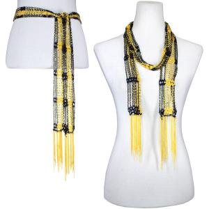 Wholesale  Dark Navy-Gold w/ Gold Beads Shanghai Beaded Scarf/Sash -
