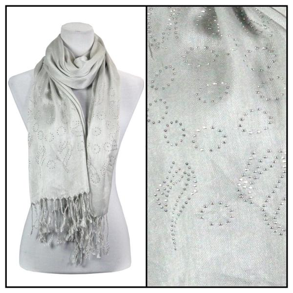 wholesale Oblong Scarves - Studded Sun 3179 Grey -