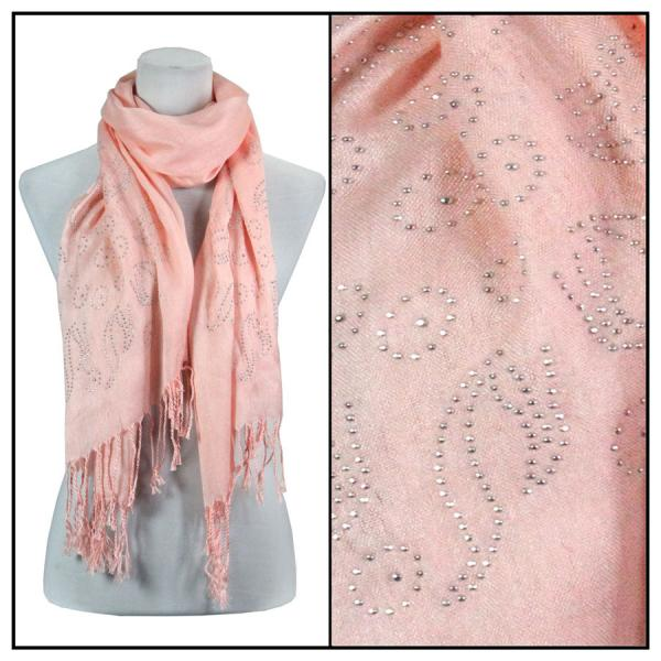wholesale Oblong Scarves - Studded Sun 3179 Pink -