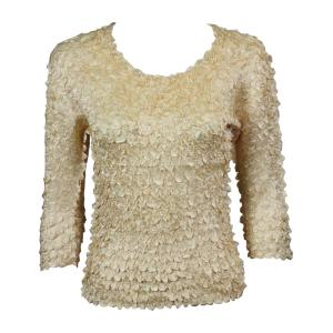 wholesale Satin Petal Shirts - 3/4 Sleeve w/ Sequins Gold - One Size (S-XL)