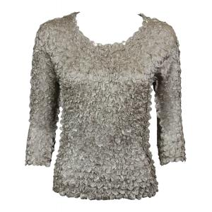 wholesale Satin Petal Shirts - 3/4 Sleeve w/ Sequins Champagne - One Size (S-XL)