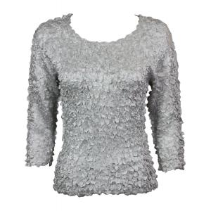 wholesale Satin Petal Shirts - 3/4 Sleeve w/ Sequins Pearl - One Size (S-XL)