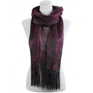 wholesale Oblong Scarves - Millionaire Metallic 147 Black-Fuchsia -