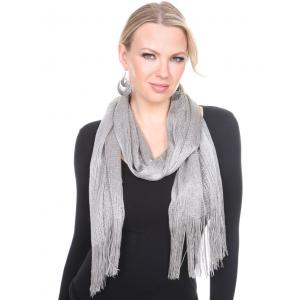 wholesale Oblong Scarves - Millionaire Metallic 147 Silver -