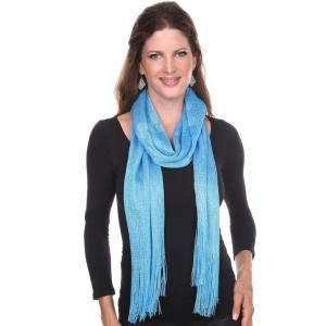 wholesale Oblong Scarves - Millionaire Metallic 147 Turquoise -