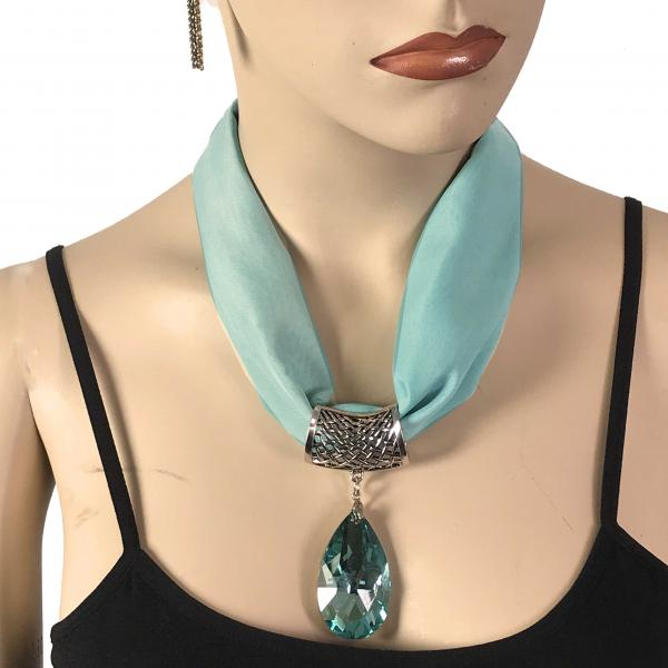 Wholesale Chiffon Magnet Necklace w/ Optional Pendant #011 Jade (Silver Magnet) w/ Pendant #560 -