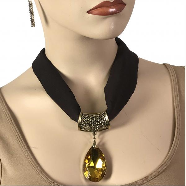 Wholesale Chiffon Magnet Necklace w/ Optional Pendant #039 Java (Bronze Magnet) w/ Pendant #561 -