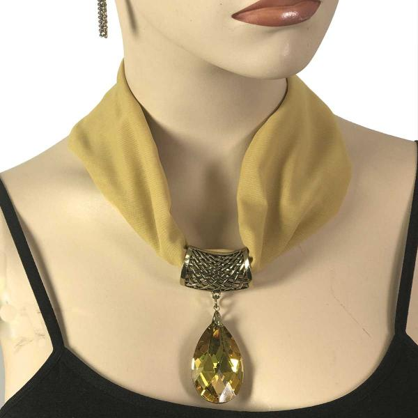 Wholesale Chiffon Magnet Necklace w/ Optional Pendant #044 Gold (Bronze Magnet) w/ Pendant #561 -