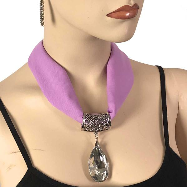 Wholesale Chiffon Magnet Necklace w/ Optional Pendant #062 Orchid (Silver Magnet) w/ Pendant #075 -