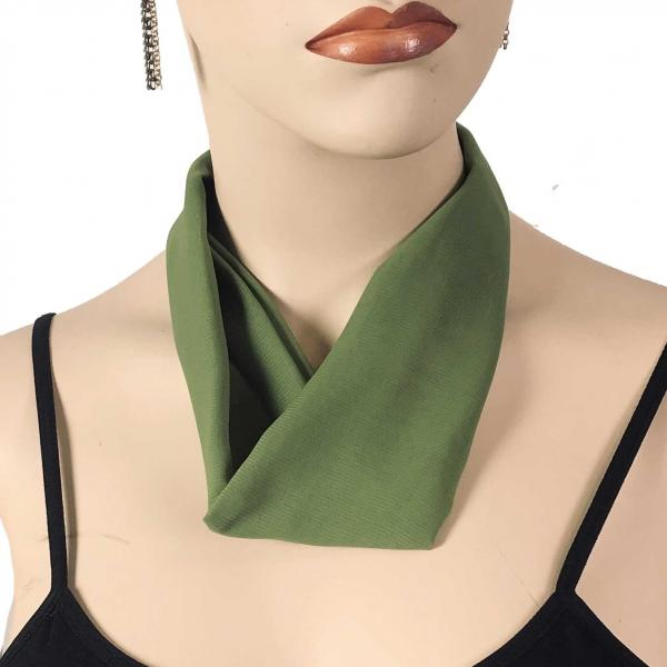 Wholesale Chiffon Magnet Necklace w/ Optional Pendant #036 Olive (Bronze Magnet) -