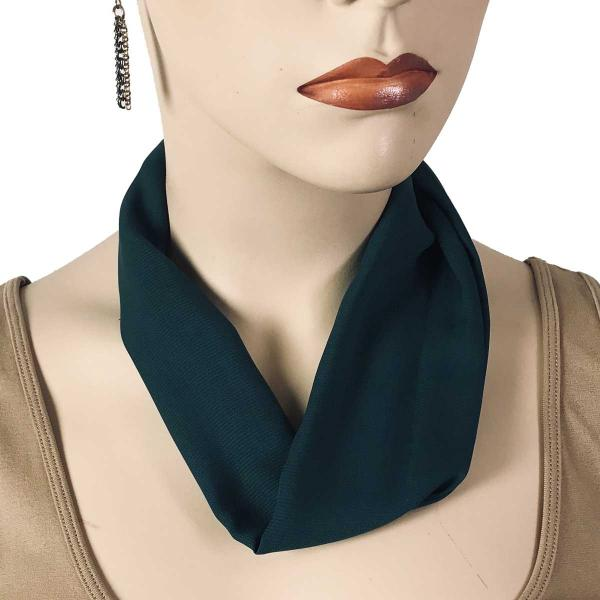 Wholesale Chiffon Magnet Necklace w/ Optional Pendant #046 Hunter Green (Bronze Magnet) -