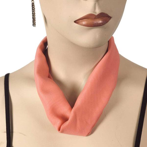 Wholesale Chiffon Magnet Necklace w/ Optional Pendant #047 Coral (Silver Magnet) -