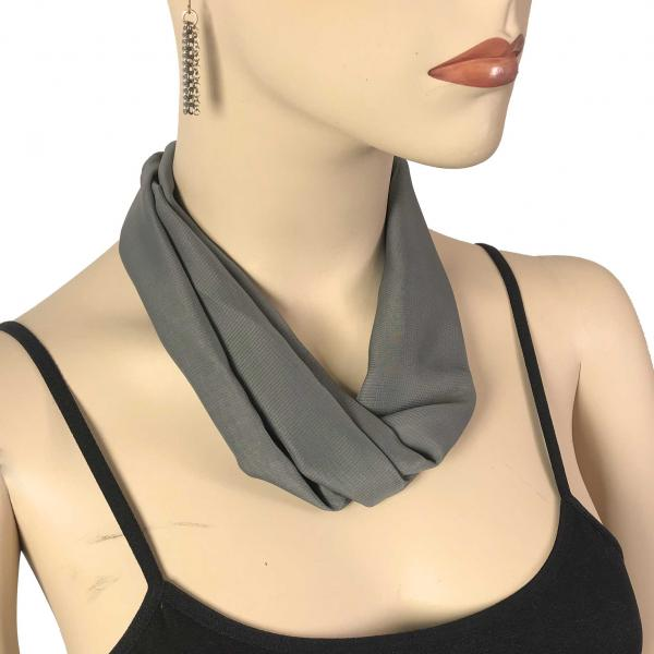 Wholesale Chiffon Magnet Necklace w/ Optional Pendant #054 Charcoal (Silver Magnet) -