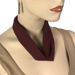 Chiffon Magnet Necklace w/ Optional Pendant #059 Maroon (Bronze Magnet) -