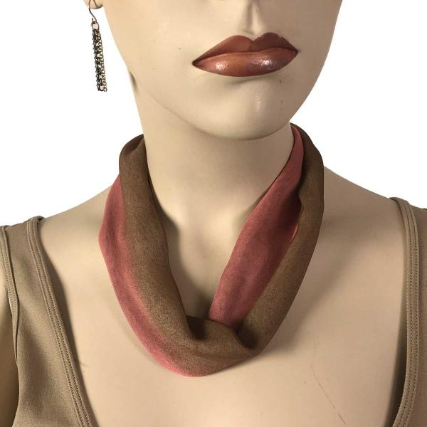Wholesale Chiffon Magnet Necklace w/ Optional Pendant #114-10 Brown-Coral (Bronze Magnet) -