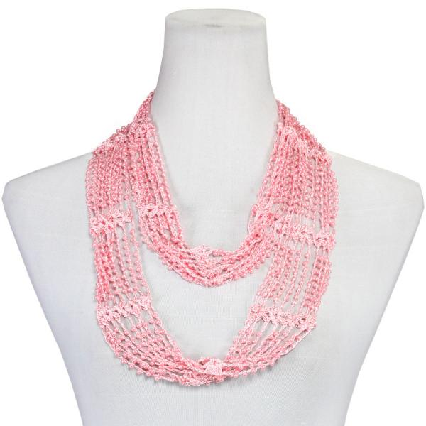 Shanghai Beaded Infinity Scarves Baby Pink w/ Baby Pink Pearls (34)Shanghai Beaded Infinity Scarf -