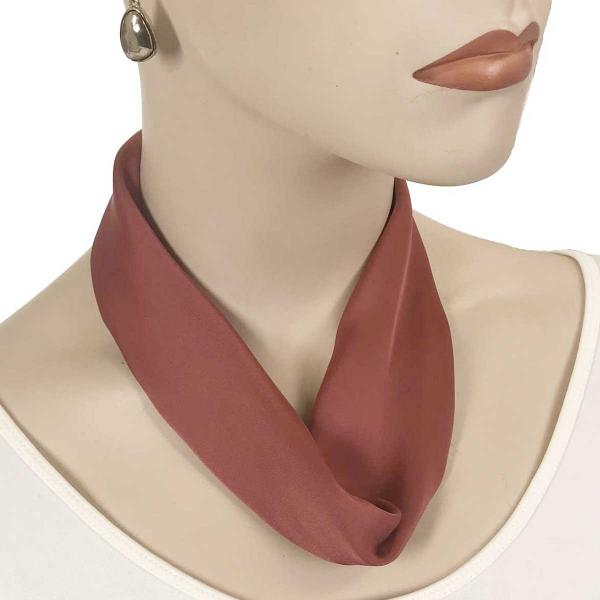 wholesale Satin Magnet Necklace with Optional Pendant #005 Brick Red (Bronze Magnet) -