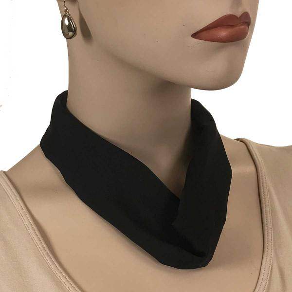 wholesale Satin Magnet Necklace with Optional Pendant #011 Black (Bronze Magnet) -