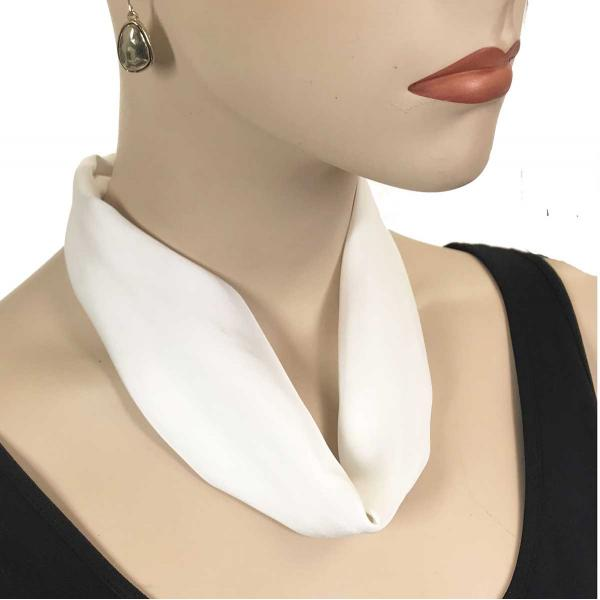 wholesale Satin Magnet Necklace with Optional Pendant #020 White (Bronze Magnet) -