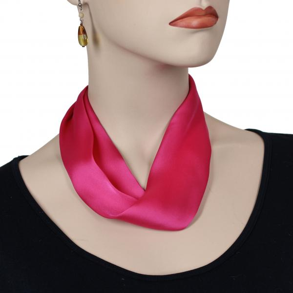 wholesale Satin Magnet Necklace with Optional Pendant #027 Hot Pink (Silver Magnet) -