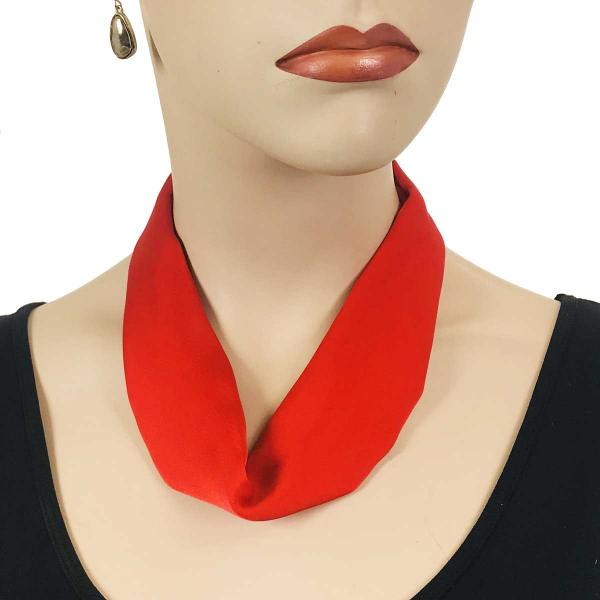 wholesale Satin Magnet Necklace with Optional Pendant #028 Red (Silver Magnet) -