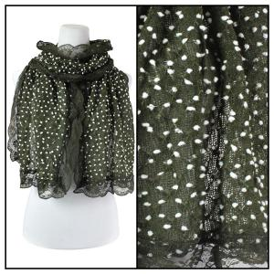 wholesale Oblong Scarves - Lace Pom Pom 4320* Green -